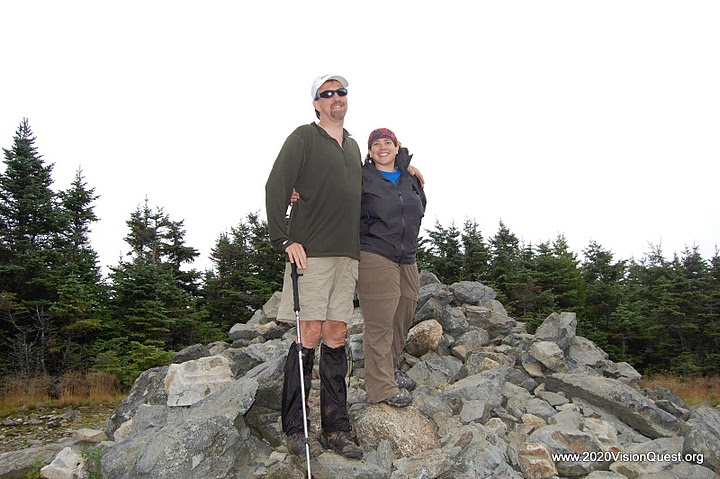 Randy & Tracy on summit of Hale