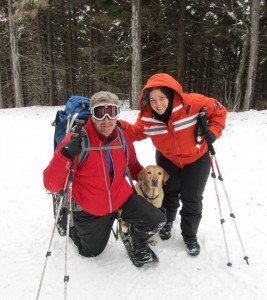 Randy, Tracy, and Quinn on Pack Monadnock