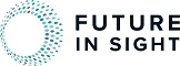 Logo of Future in Sight, including several concentric, multicolored rings that share a white, circular